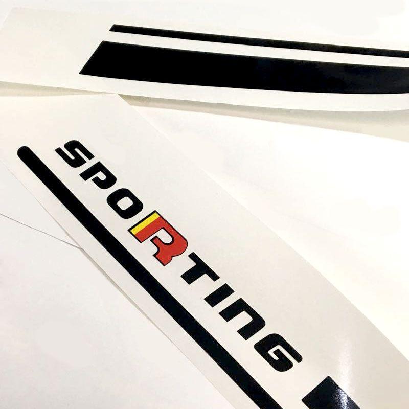 Kit Faixa Lateral Bravo Sporting 2016 Adesivo Preto/Black