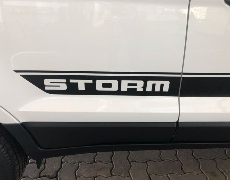 Kit Faixa Lateral Capô Ecosport Storm Completo Adesivo Preto