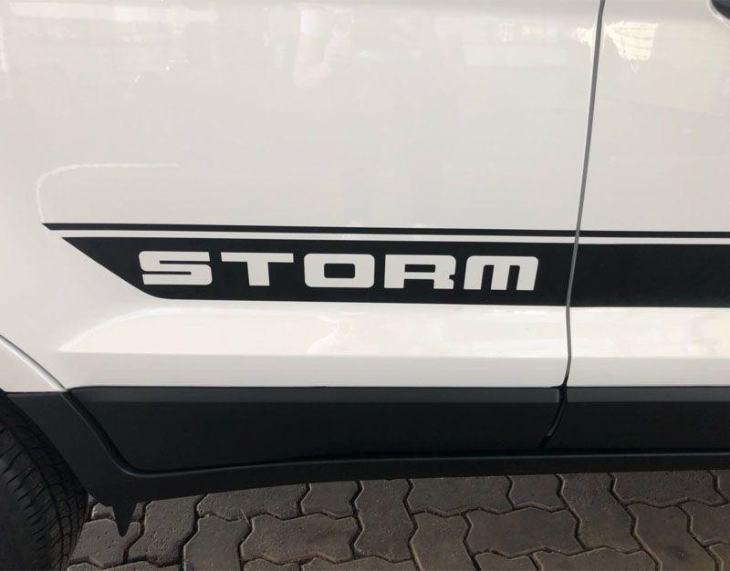 Kit Faixa Lateral Capô Ecosport Storm + Soleira Resinada