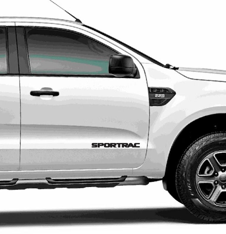Kit Faixa Lateral Ford Ranger Sportrac 2018 + Emblema Preto