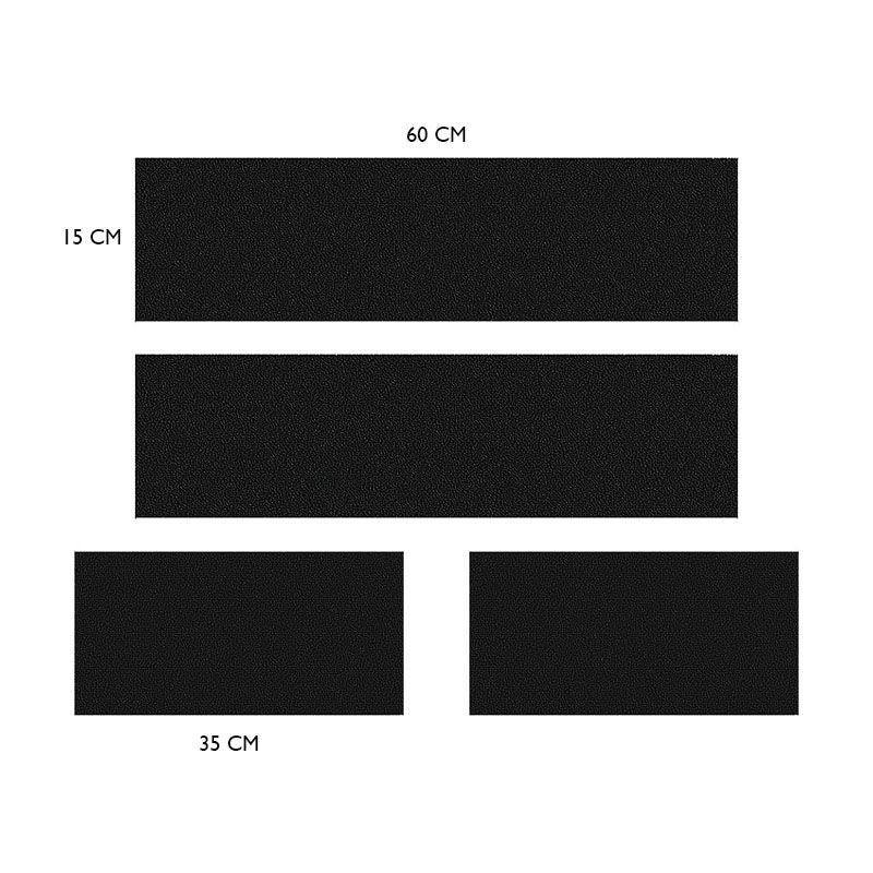 Kit Faixa Lateral Grafite S10 13/19 4x4 + Soleira Protetora