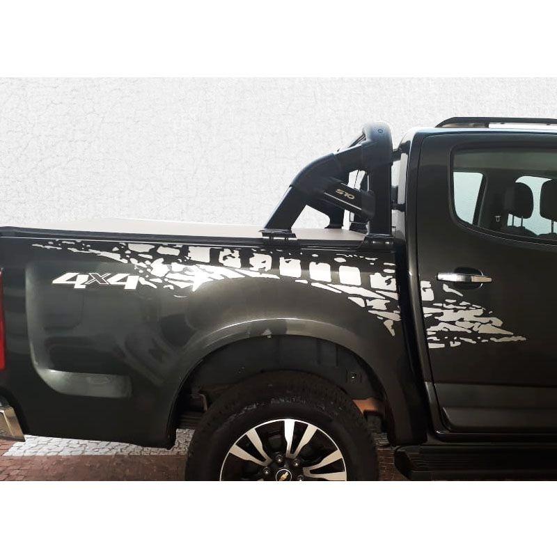 Kit Faixa Lateral Prata S10 2013/2019 + Adesivo 4x4