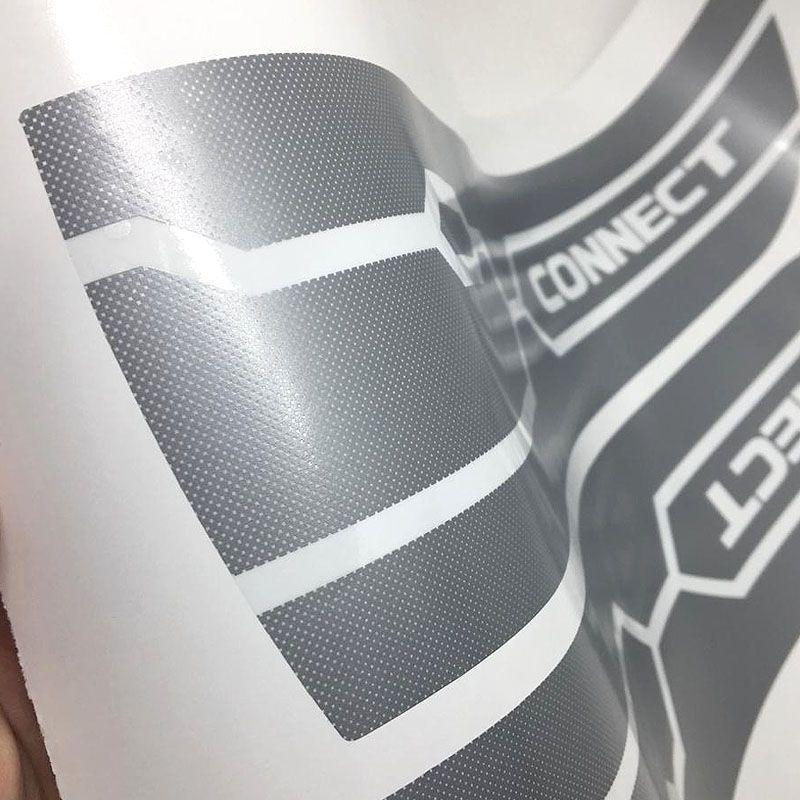 Kit Faixa Lateral Up! Connect 2018 Prata + Soleira Protetora