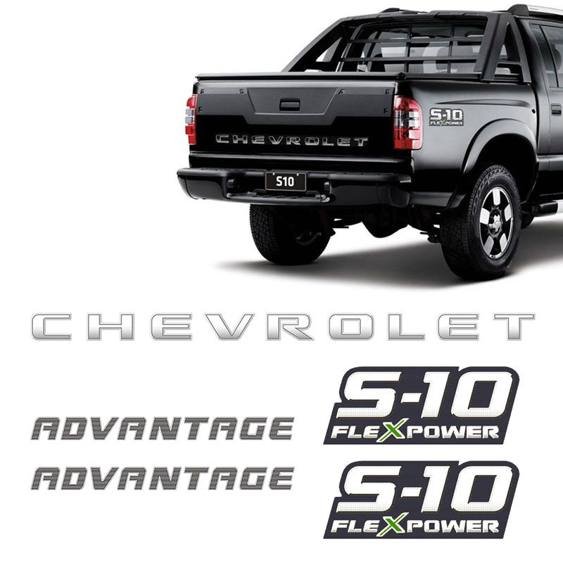 Kit Faixa Prata S10 Chevrolet Advantage 09/11 + Flex Power