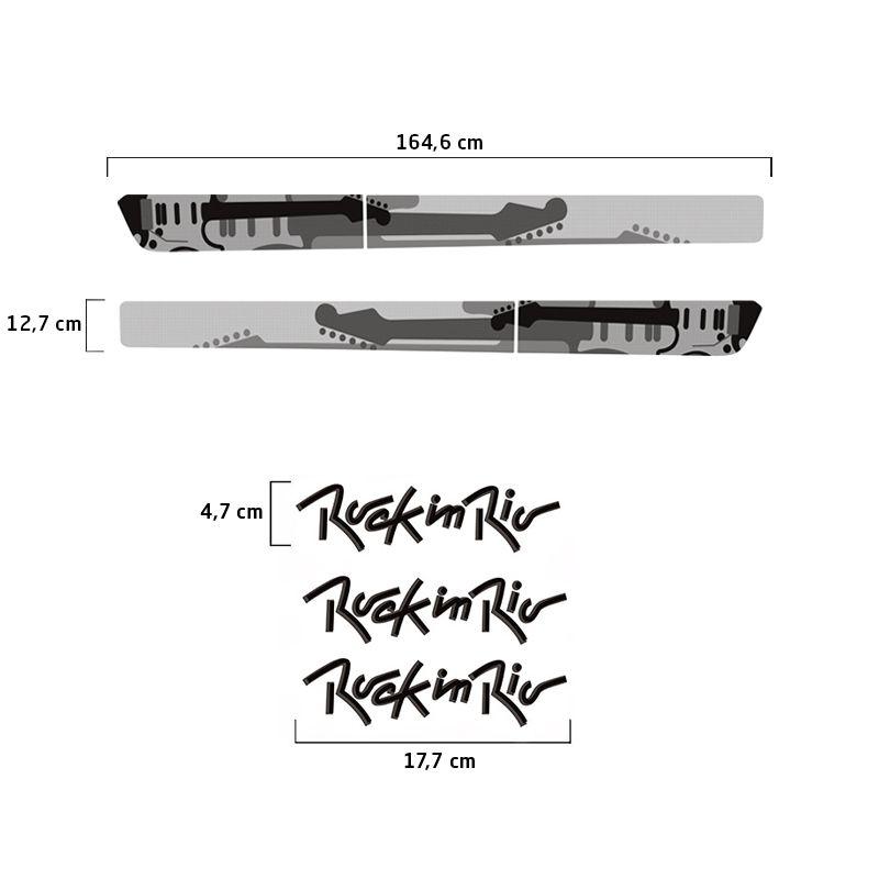 Kit Faixa Preto Fox Rock In Rio 2013/2014 + Emblemas Resinados