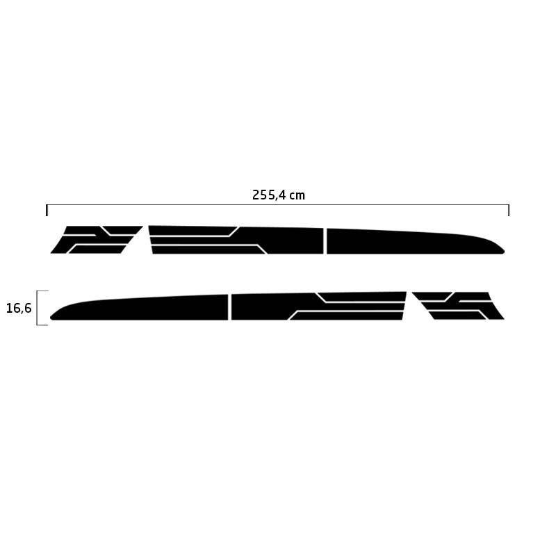 Kit Faixa Preto Lateral Ranger 14/19 + Soleira Protetora