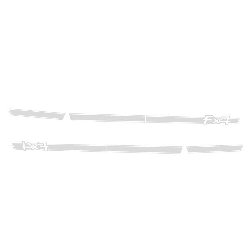 Kit Faixa Ranger FX4 Adesivo Prata + Soleira Com Protetor
