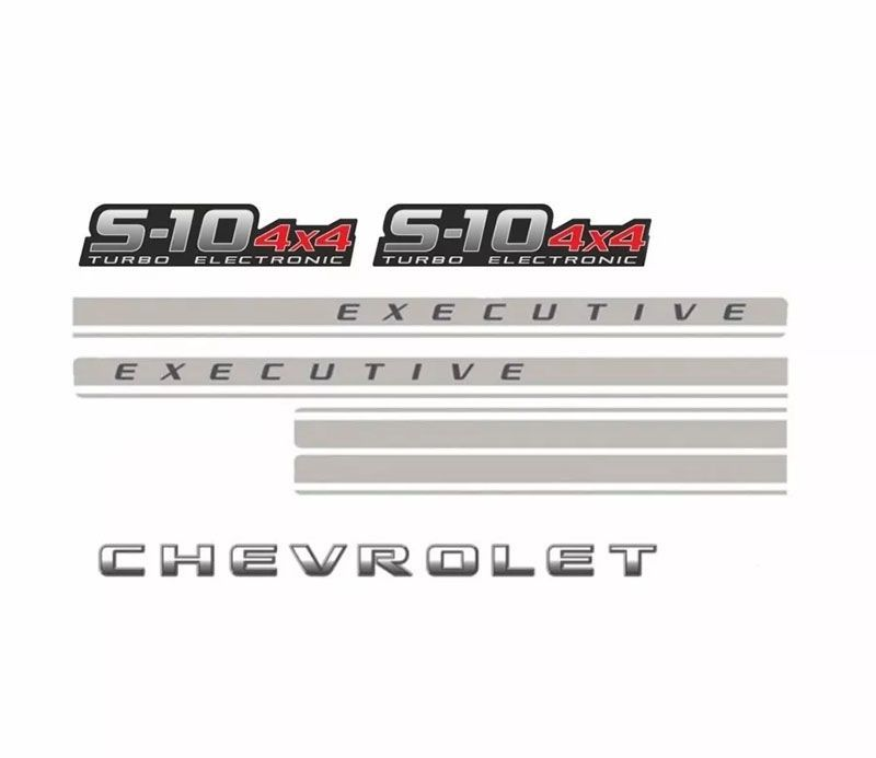 Kit Faixa S10 Executive Chevrolet Turbo Electronic 4x4 Vermelho