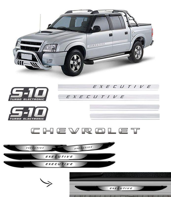 Kit Faixa S10 Executive Turbo Eletronic + Soleira Da Porta