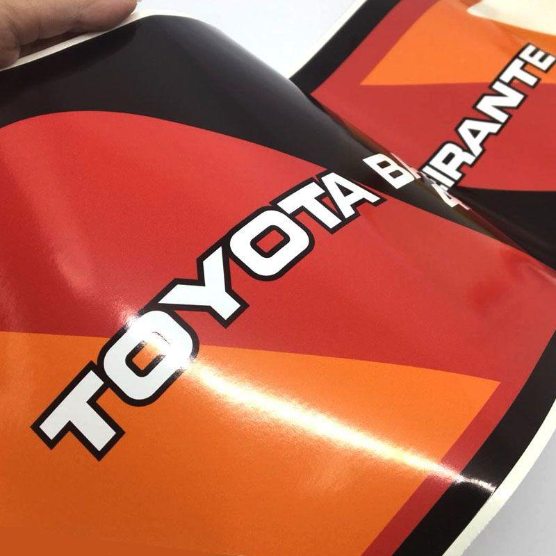 Kit Faixa Toyota Bandeirante 4x4 Adesivo Lateral Vermelho