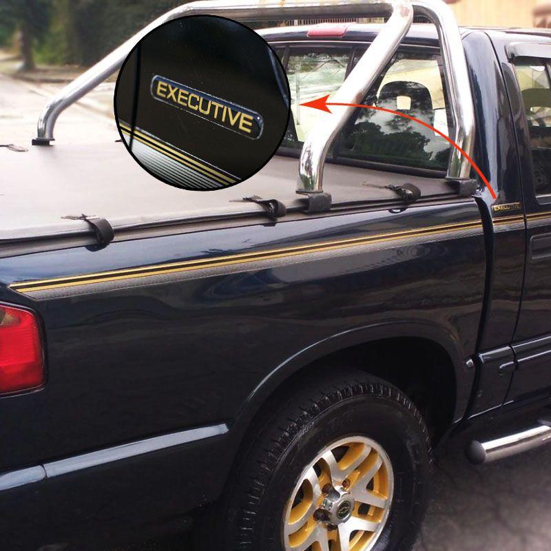 Kit Faixas S10 Executive 1999/2000 CD Chevrolet Dourado