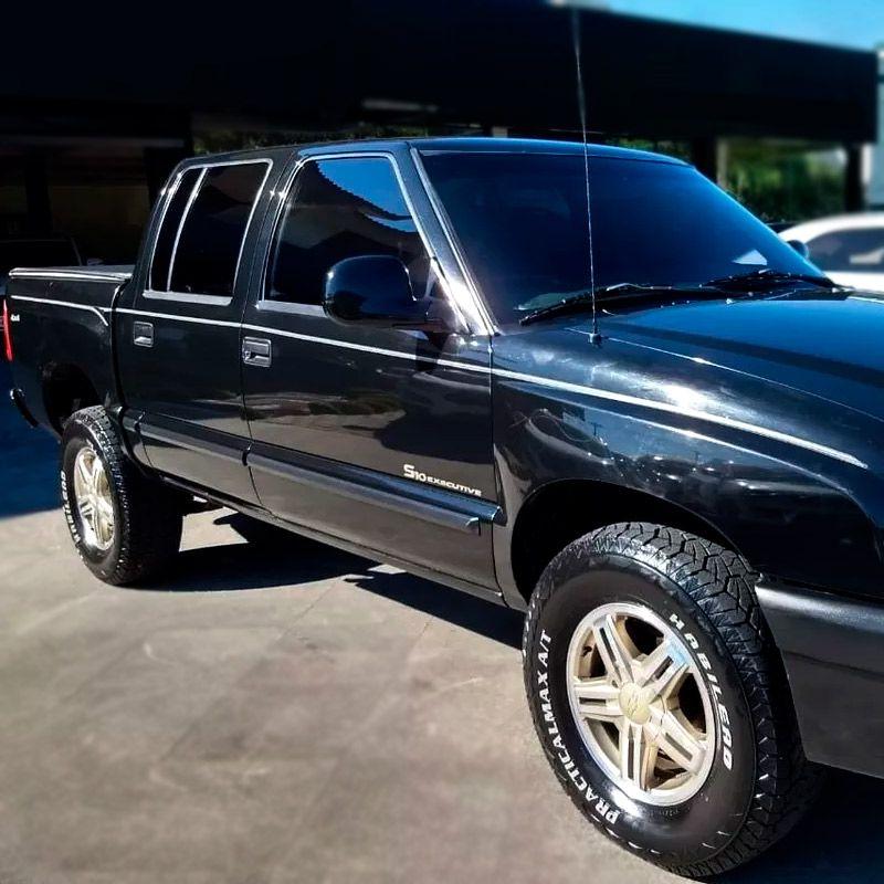 Kit Faixas S10 Executive 2003, 2004, 2005, 2006 Emblemas Adesivo Chevrolet