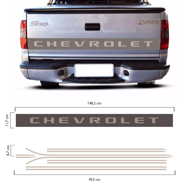 Kit Faixas S10 Executive 2003/ Chevrolet Adesivos Resinados