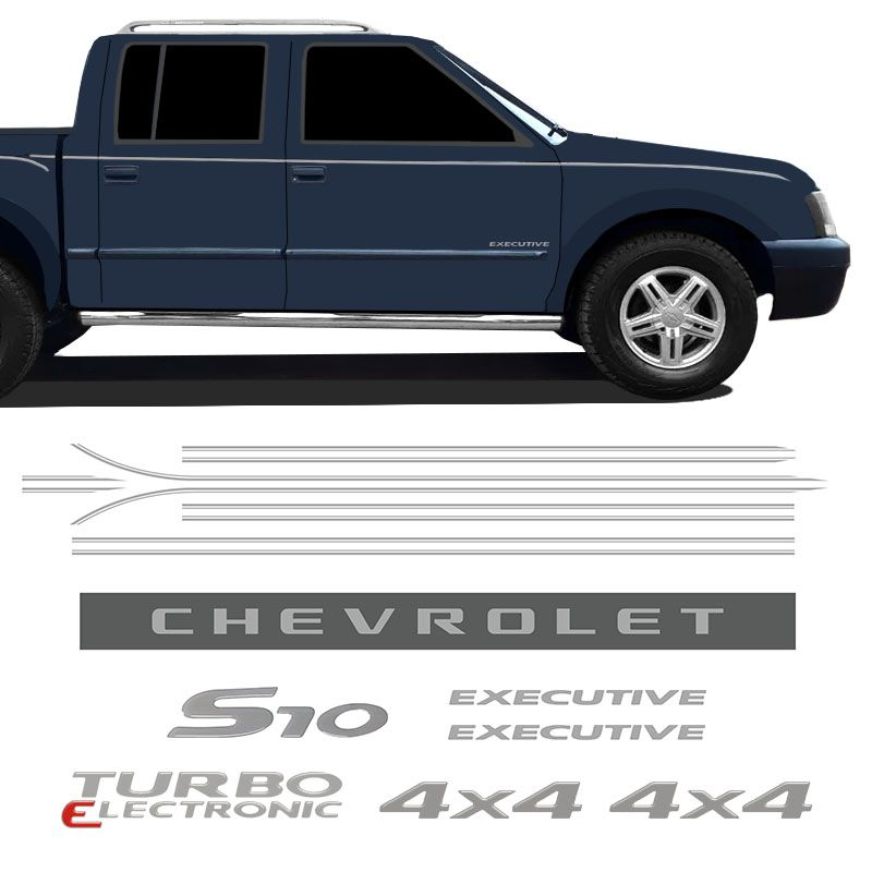Kit Faixas S10 Executive 2007/2008 Chevrolet Cabine Dupla