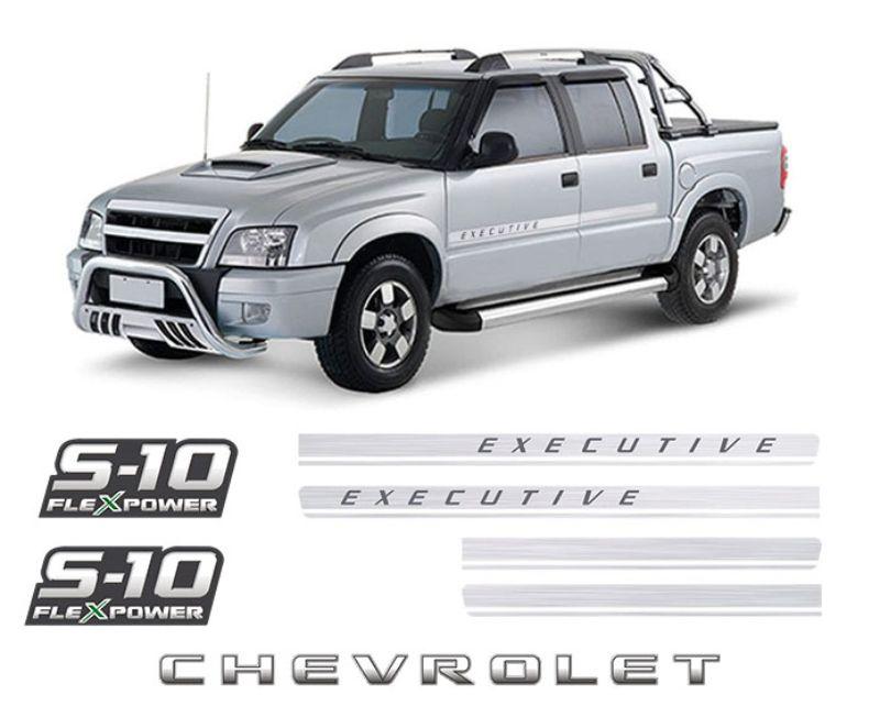 Kit Faixas S10 Executive Chevrolet Flex Power Verde