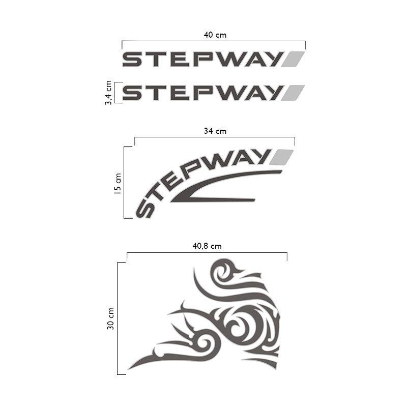 Kit Faixas Sandero Stepway 08/11 + Adesivo Tribal Grafite