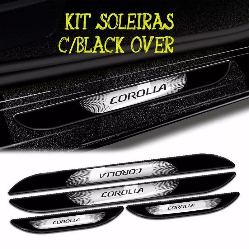 Kit Friso Lateral Traseiro Soleira C/ Black Over Corolla 14/