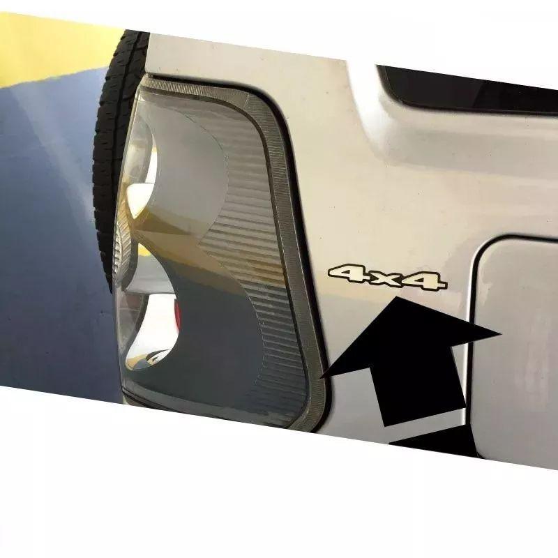 Kit Par Adesivos 4x4 Mitsubishi Pajero Tr4 Resinado Cromado