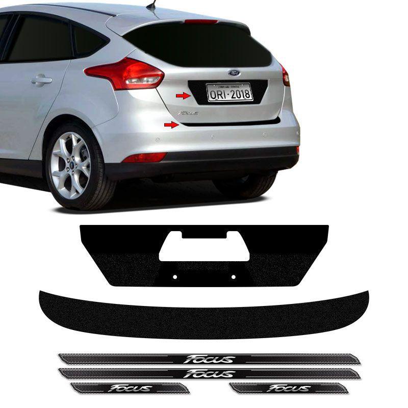 Kit Protetor Focus Hatch 18 Adesivo Placa + Soleira Da Porta