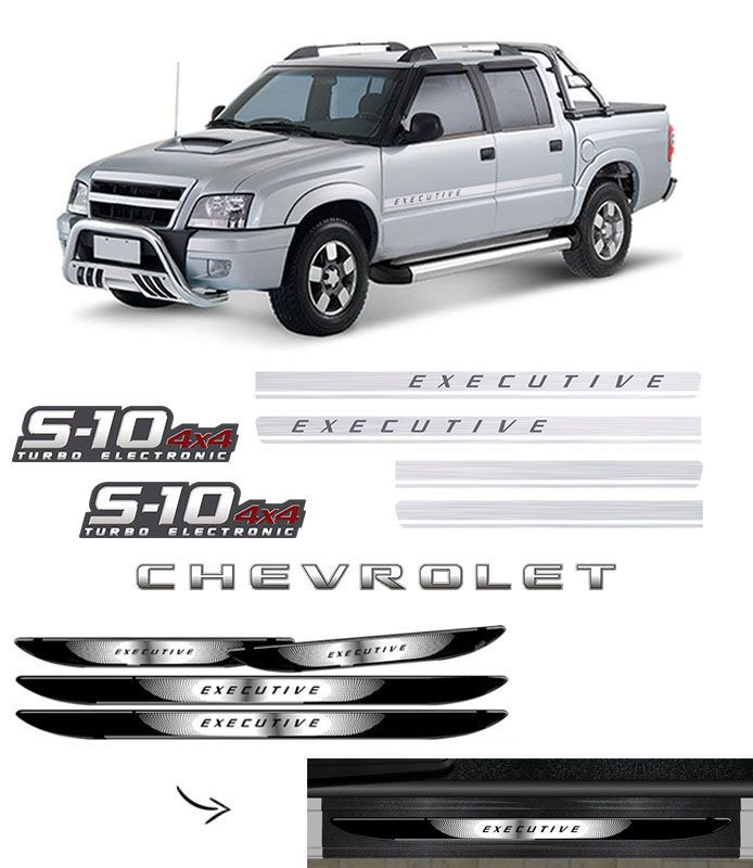 Kit S10 Executive Turbo Eletronic 4x4 + Soleira Black Over