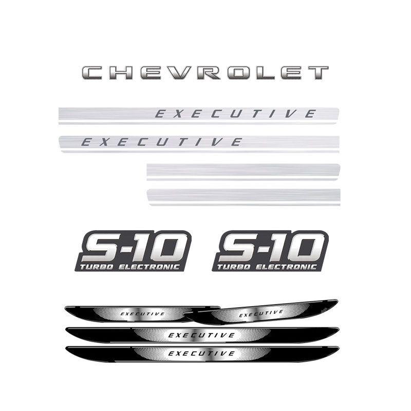 Kit S10 Executive Turbo Eletronic + Soleira Com Black Over