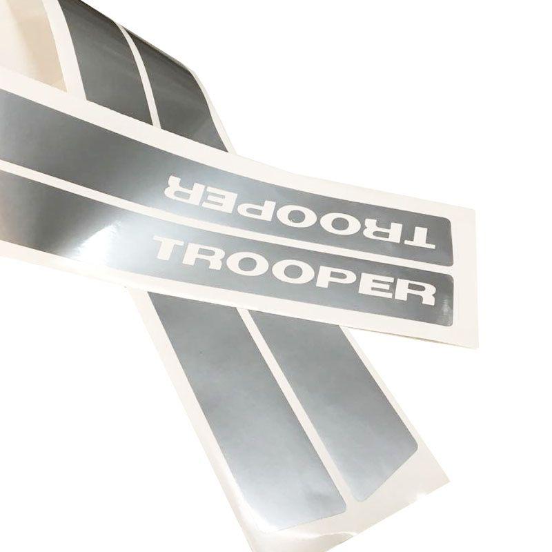 Kit Saveiro Trooper 2010 2011 Faixa Traseira E Lateral Prata
