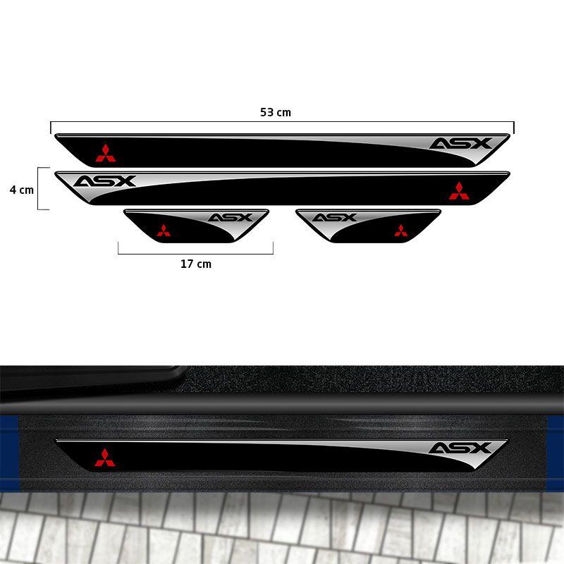 Kit Soleira Asx 11/18 Mitsubishi E Adesivo Protetor de Porta