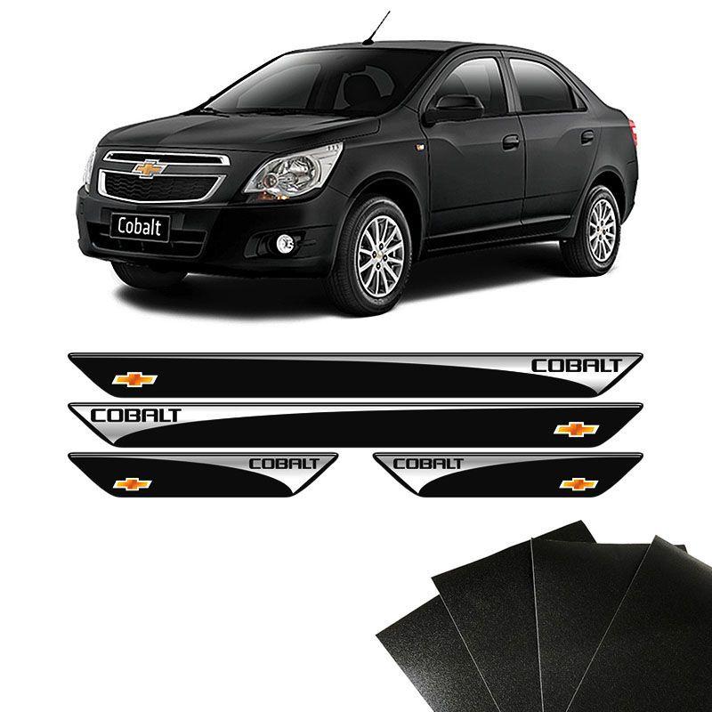 Kit Soleira Chevrolet Cobalt 2012/2019 Com Protetor de Porta