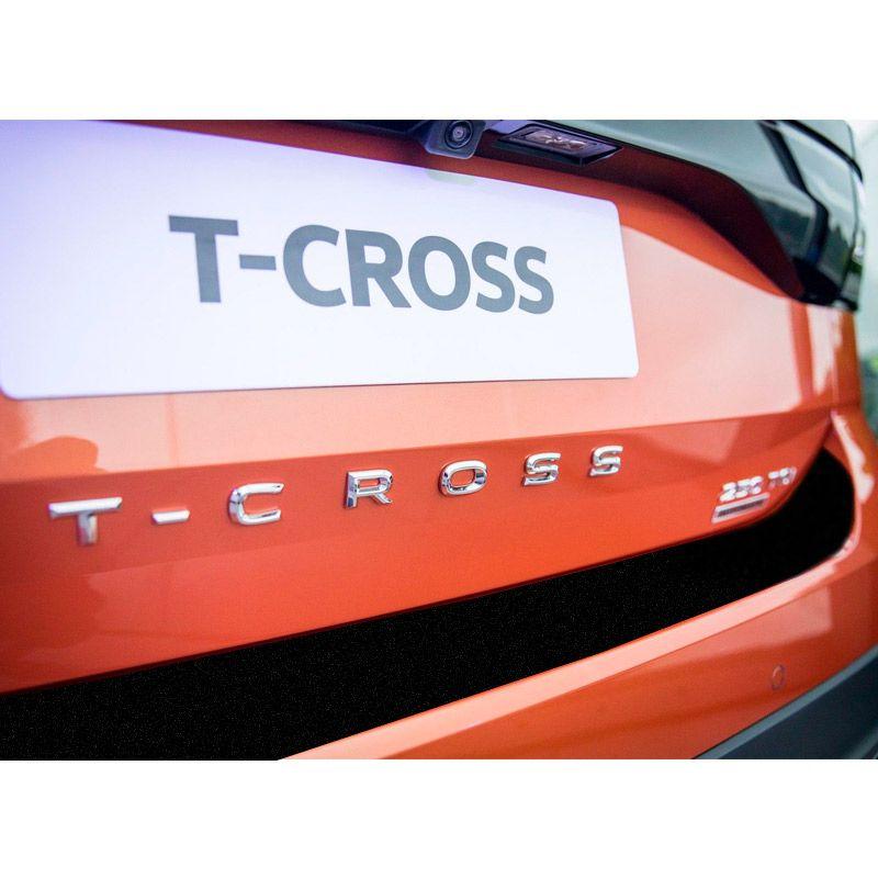 Kit Soleira Com Protetor T-Cross 19/20 + Adesivo Porta-Malas