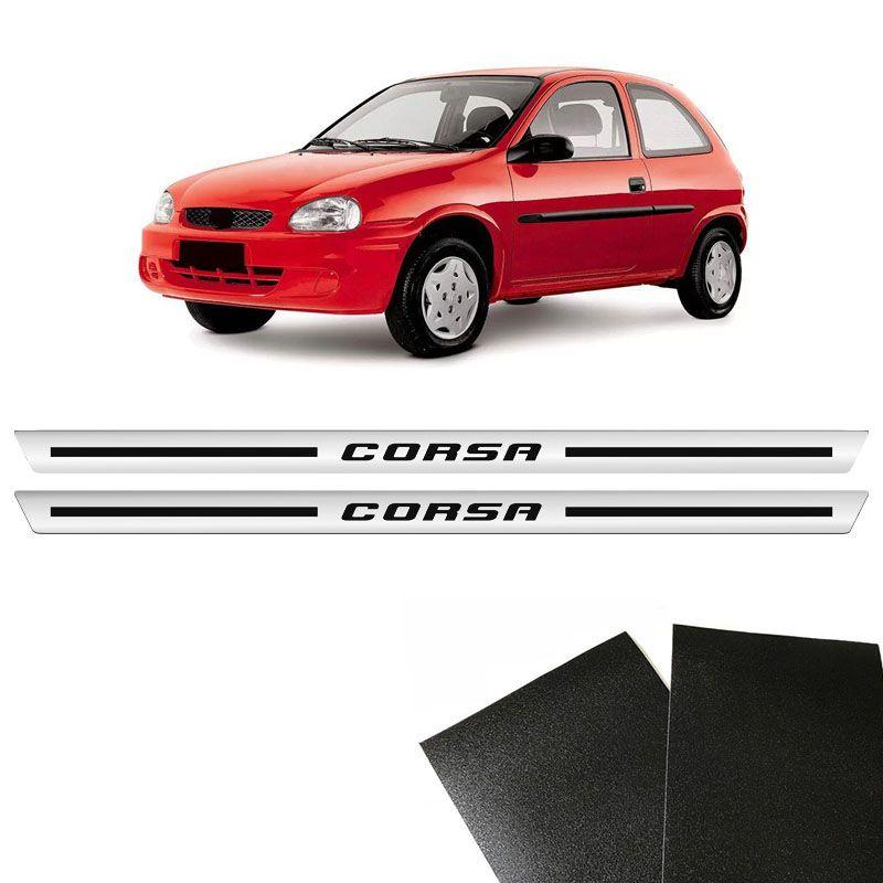 Kit Soleira Cromada Corsa 2 Portas 1994/2001 Com Protetor