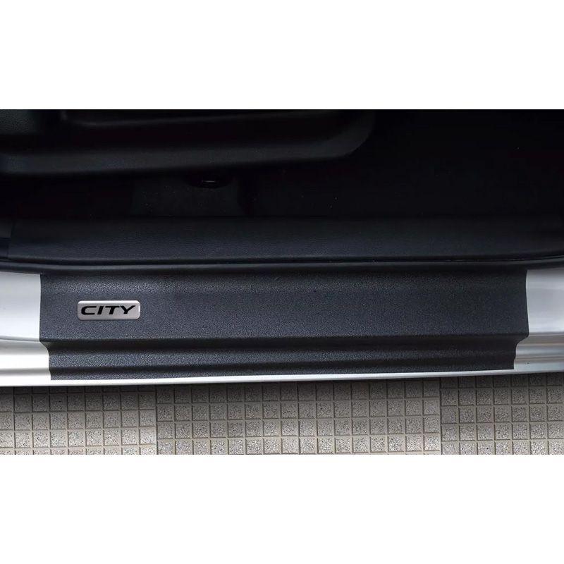 Kit Soleira da Porta Honda City 2015/2020 Resinado Com Black Over