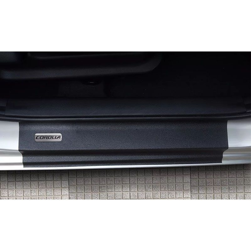Kit Soleira da Porta Corolla 2015/ Resinado Com Black Over