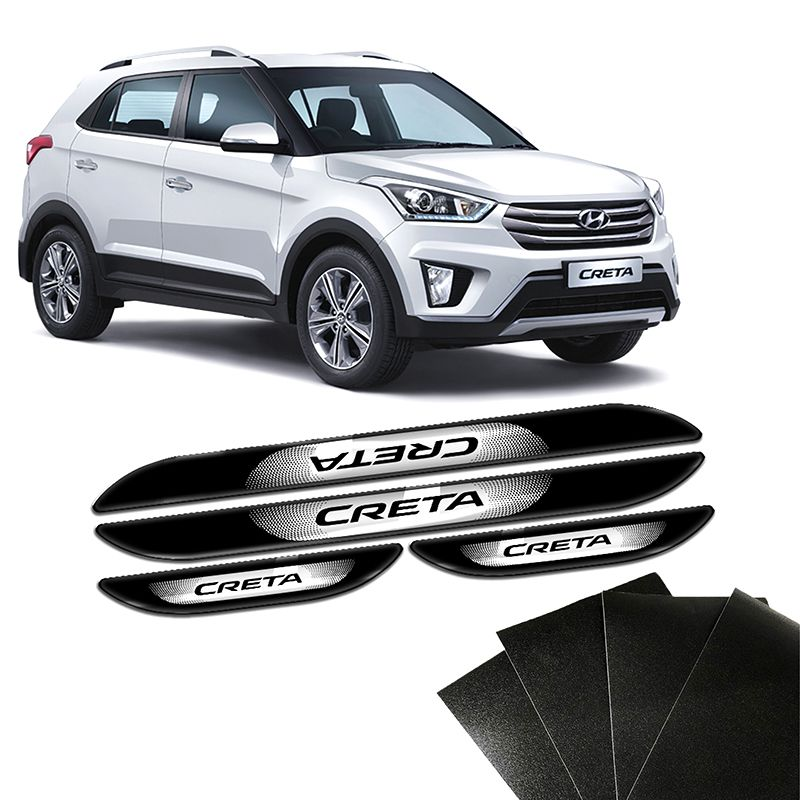 Kit Soleira Da Porta Hyundai Creta 2017 a 2019 Com Black Over