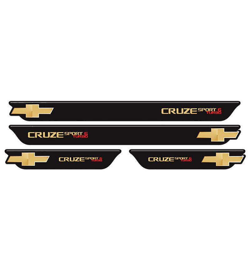 Kit Soleira da Porta Cruze Sport 6 Turbo Gold Com Black Over