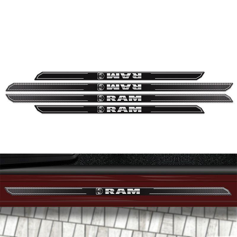 Kit Soleira Da Porta Diamante Dodge Ram 2500 Resinada