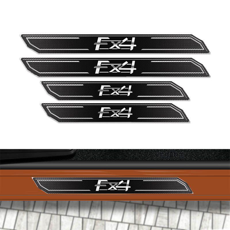 Kit Soleira Da Porta Diamante Ford Ranger Fx4 Resinada