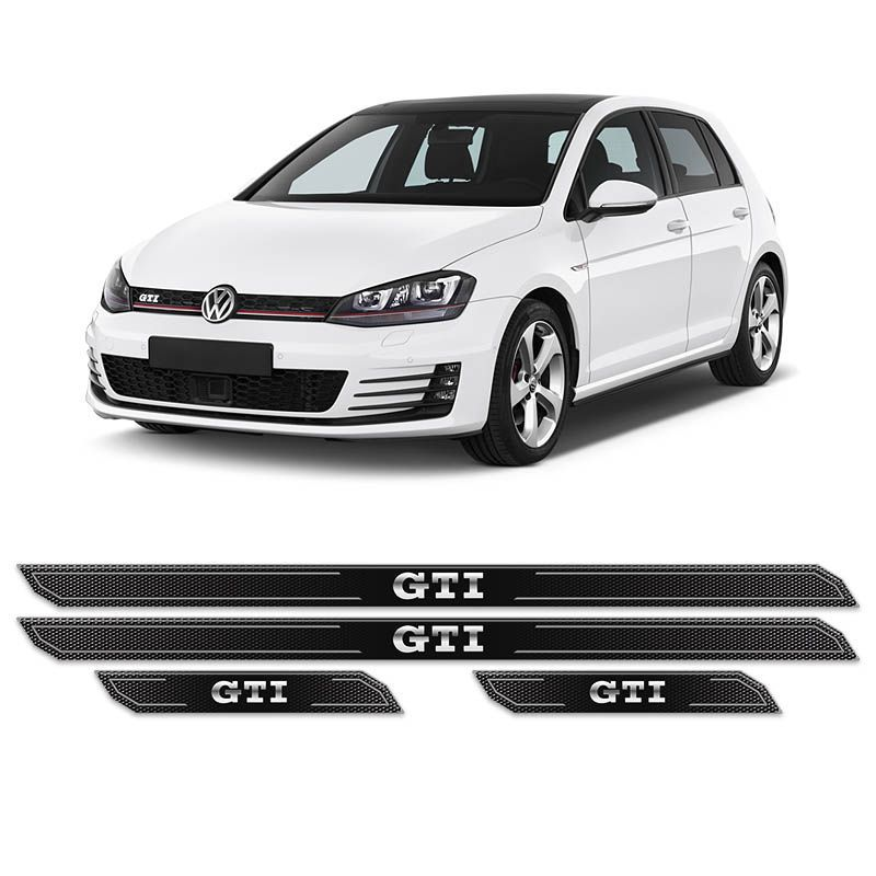 Kit Soleira Da Porta Diamante Golf Gti Vw 2014/2018 Resinada