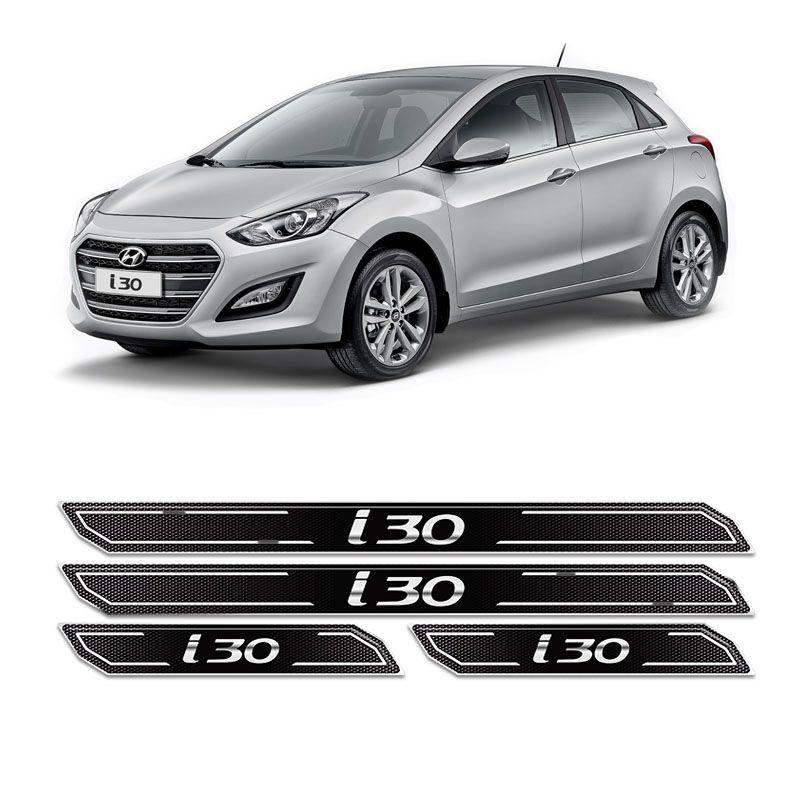 Kit Soleira Da Porta Diamante Hyundai I30 2010/2016 Resinada