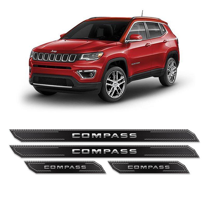 Kit Soleira Da Porta Diamante Jeep Compass 2018 Resinada
