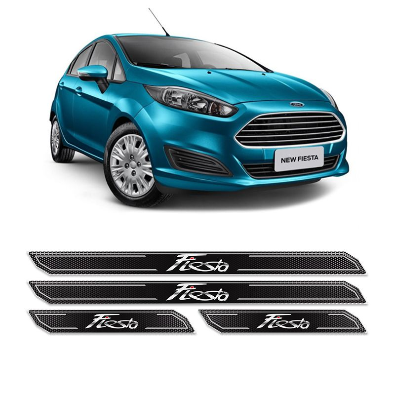 Kit Soleira Da Porta Diamante New Fiesta Hatch Sedan
