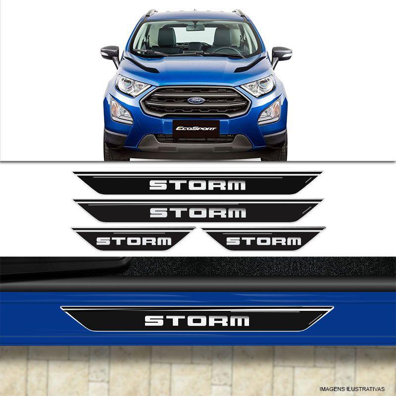 Kit Soleira Da Porta Ecosport Storm Protetor Resinado