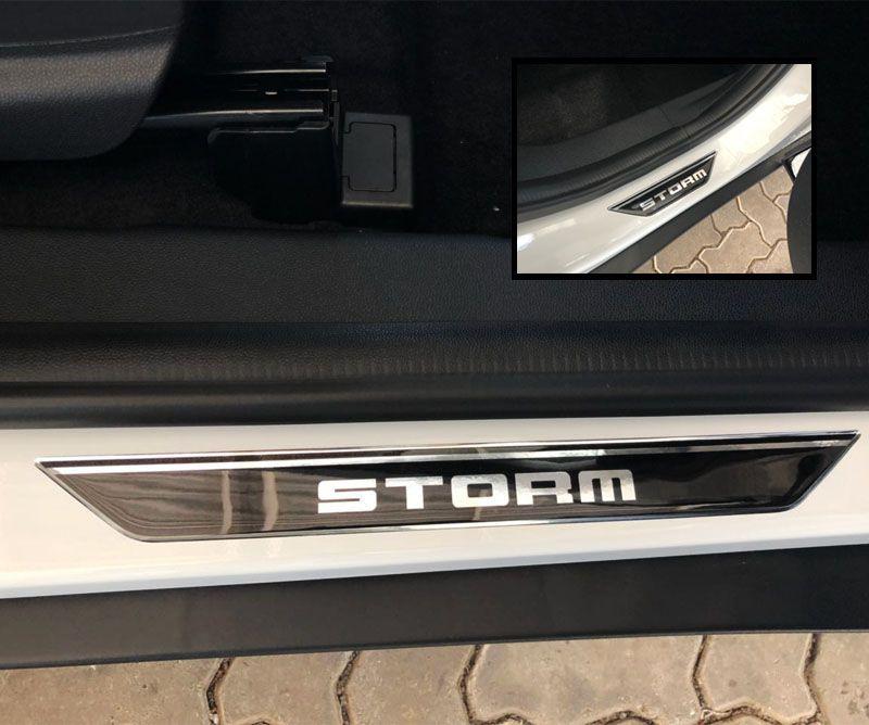 Kit Soleira Da Porta Ecosport Storm Resinada Com Black Over