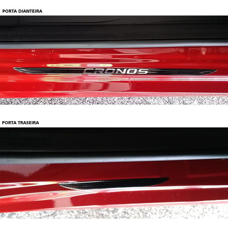 Kit Soleira Da Porta Fiat Cronos Adesivo Resinado Cromado