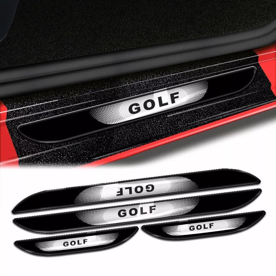 Kit Soleira Da Porta Golf 2014/2019 Com Black Over Resinado