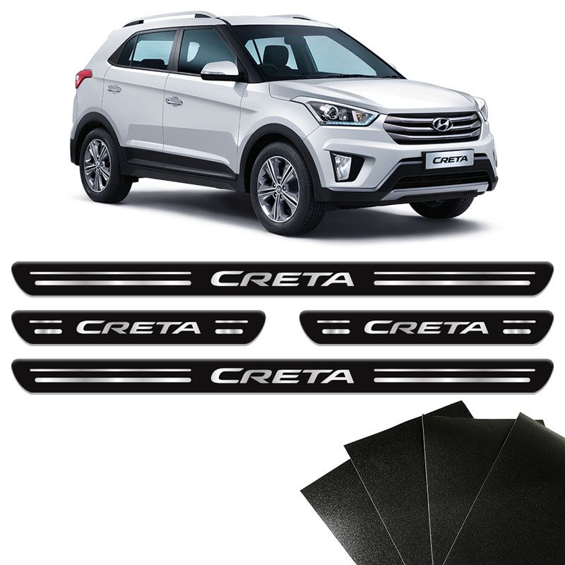 Kit Soleira Da Porta Hyundai Creta 2017 2018 19 20 Protetora