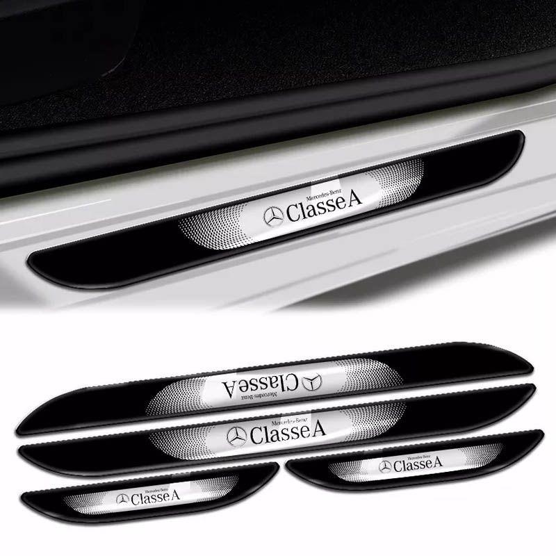 Kit Soleira da Porta Mercedes Benz Classe A Cromado Resinado