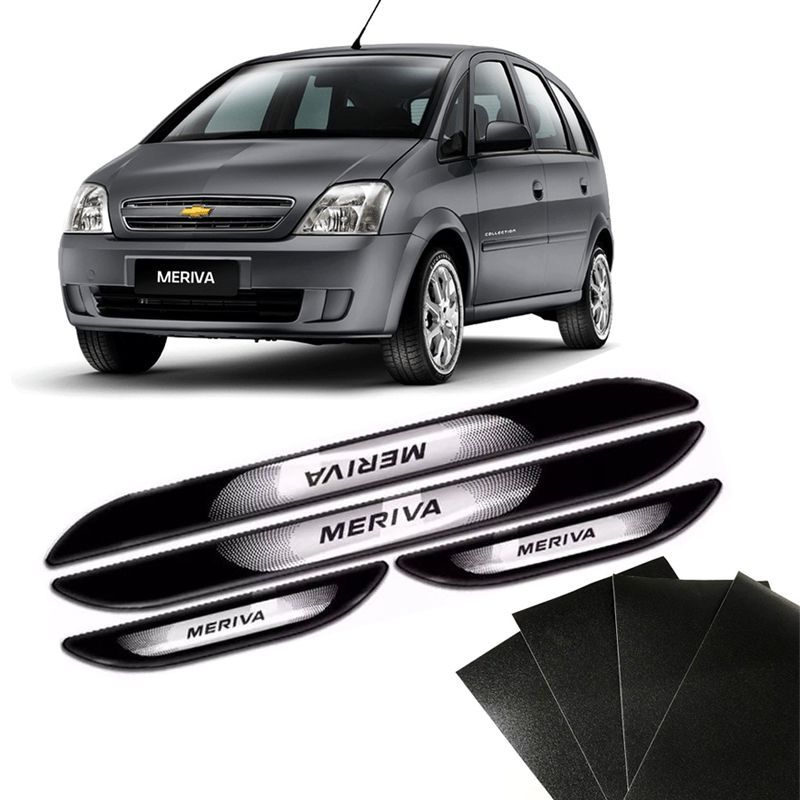 Kit Soleira Da Porta Meriva Com Black Over Resinado