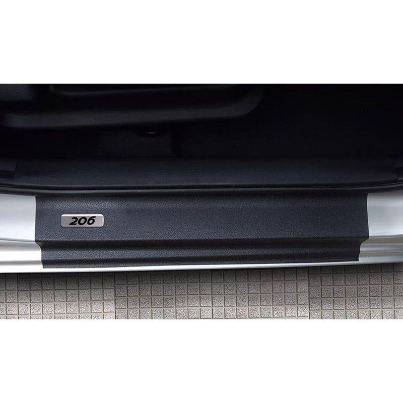 Kit Soleira da Porta Peugeot 206 Resinado Com Black Over
