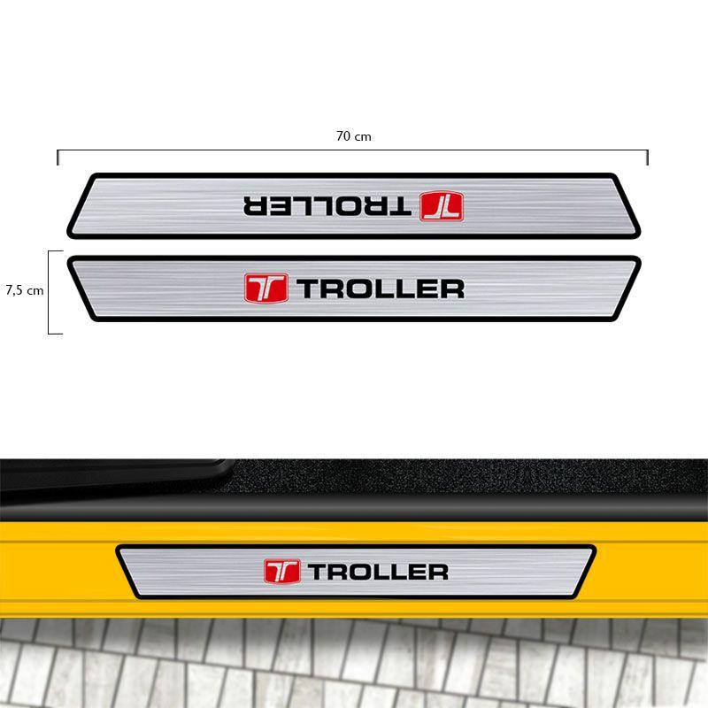 Kit Soleira Da Porta Troller T4 2005/2017 Prata Resinada