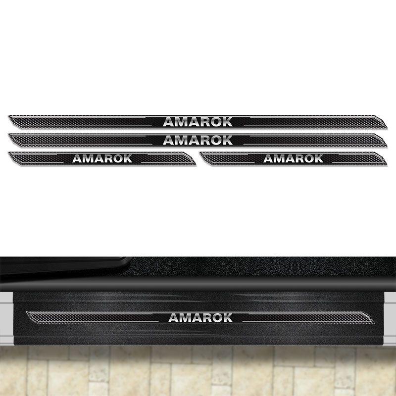 Kit Soleira Diamante Amarok 2011/2018 Com Protetor De Porta